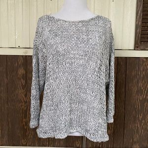 Eileen Fisher gray sweater size M loose knit